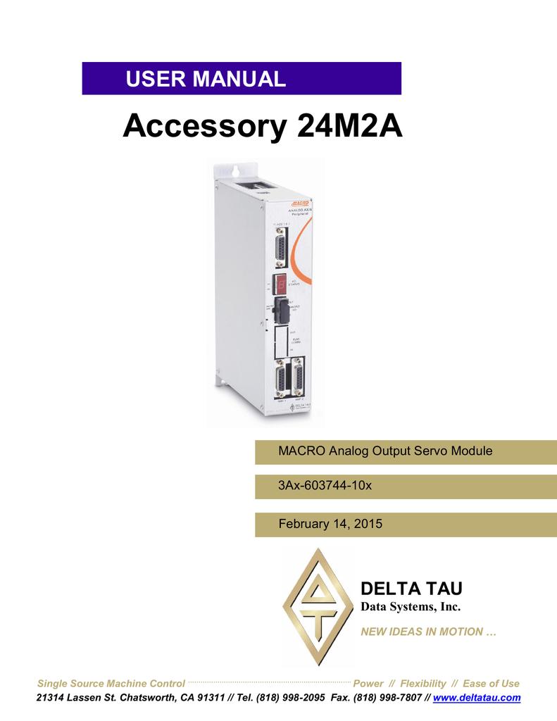 Delta Tau ACC-24M2A User's Manual   manualzz com