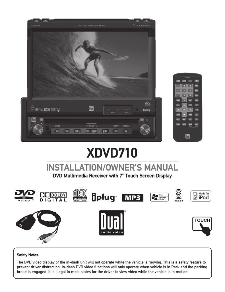 Dual XDVD710 User's Manual | manualzz.com on