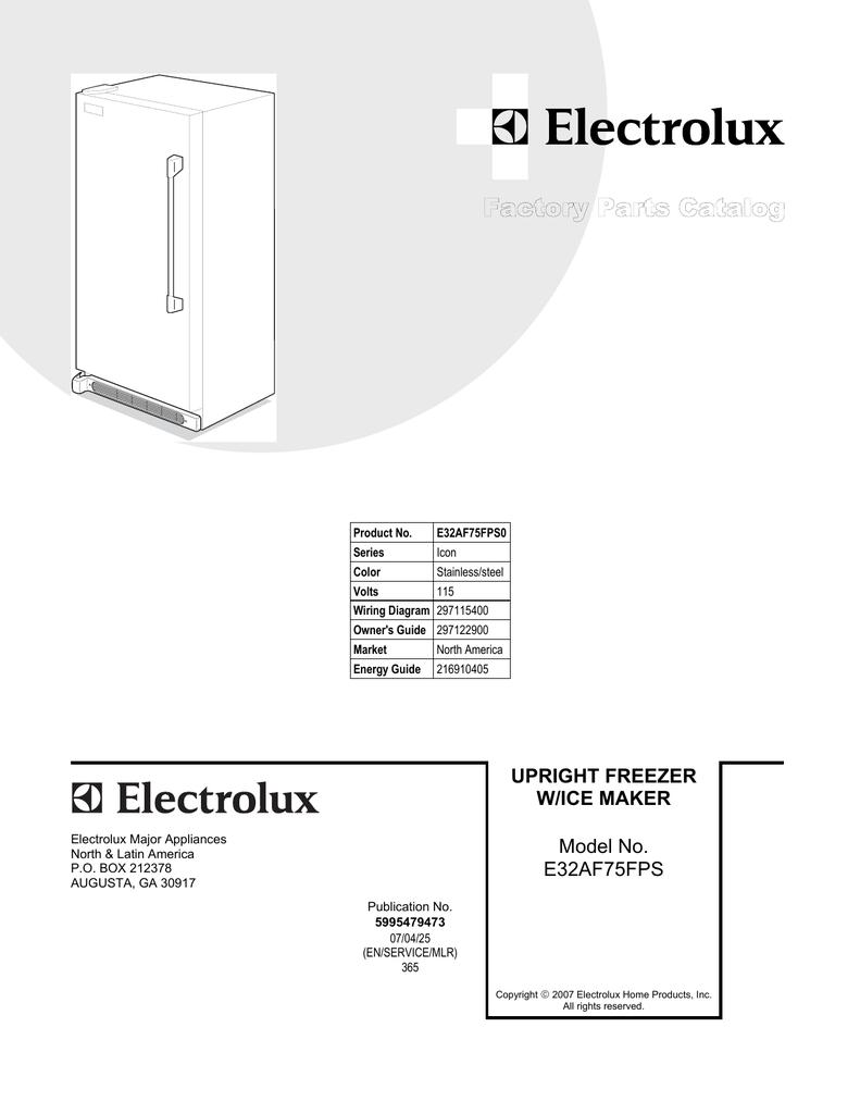 Electrolux ICON E32AF75FPS0 User's Manual | Manualzzmanualzz