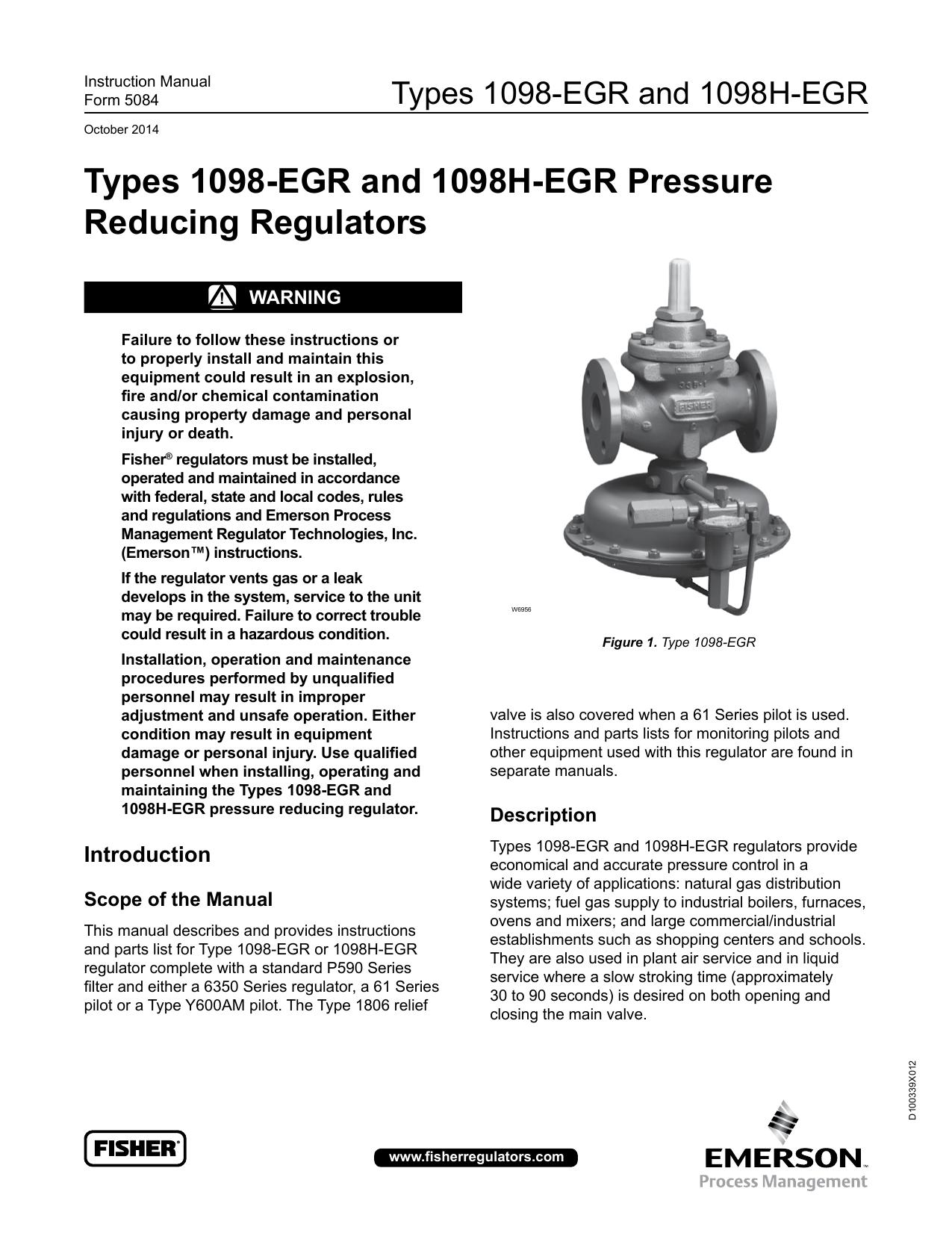 emerson 1098h egr instruction manual manualzz com rh manualzz com
