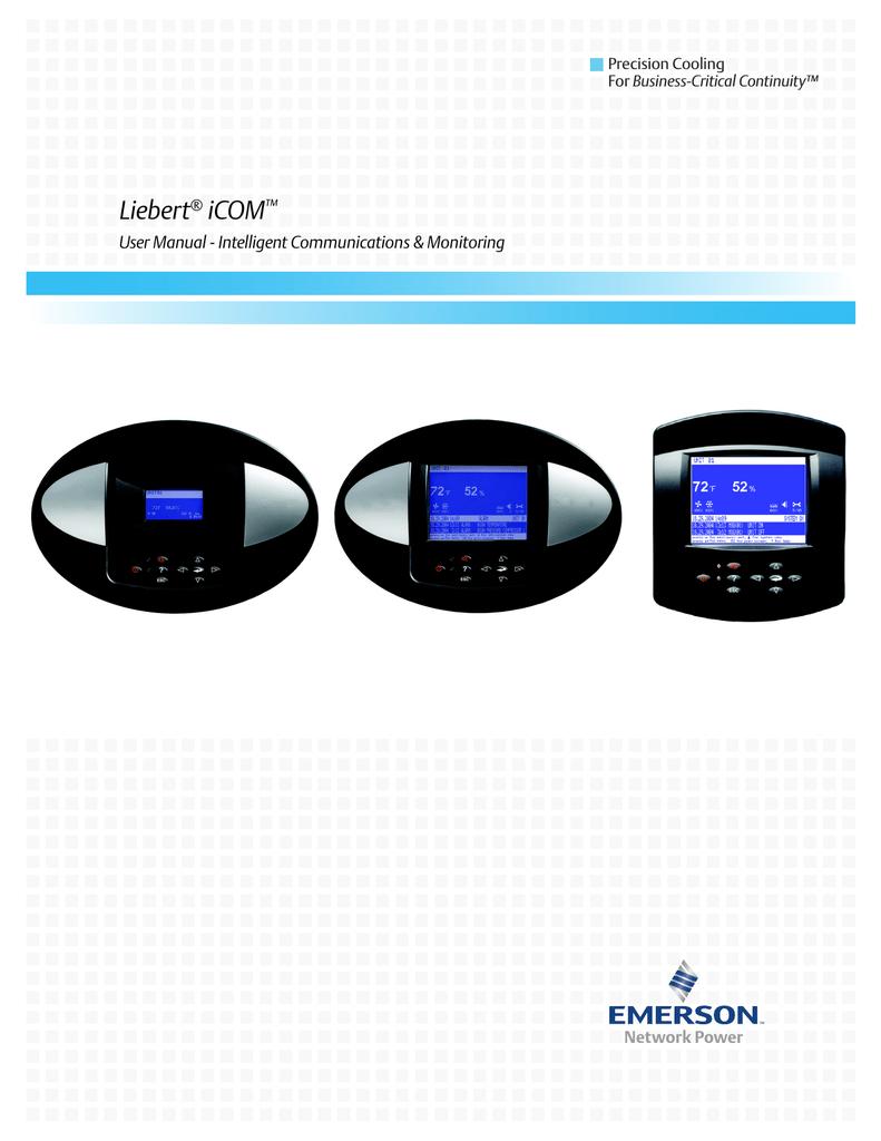 Emerson Liebert iCOM User's Manual | manualzz com
