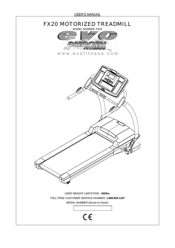 Evo Fitness Fx20 Users Manual