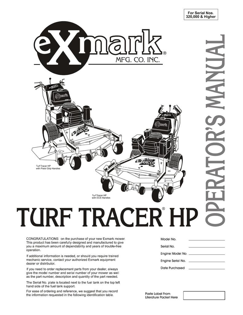 Exmark TT5217KA User's Manual | manualzz com