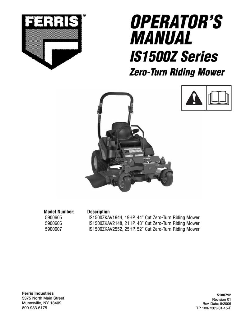 Ferris Is2000z parts Manual