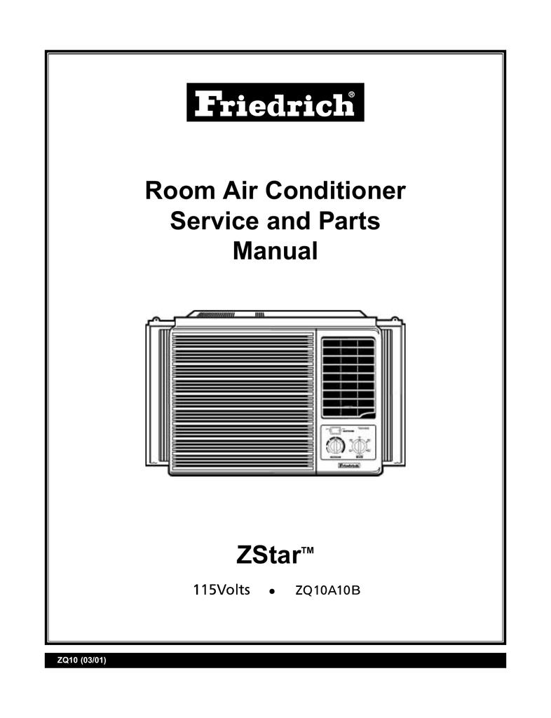 Friedrich ZQ10 User's Manual   Manualzzmanualzz