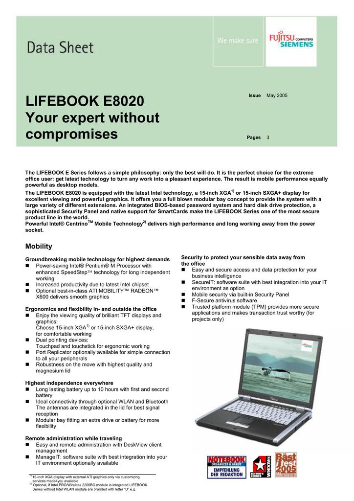 FUJITSU SIEMENS E SERIES LIFEBOOK E8020 WINDOWS 8 X64 DRIVER DOWNLOAD