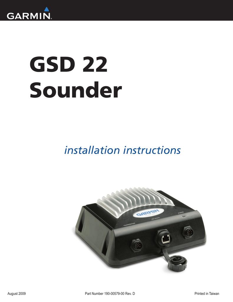 Garmin GSD 22 Digital Remote Sounder Installation ... on