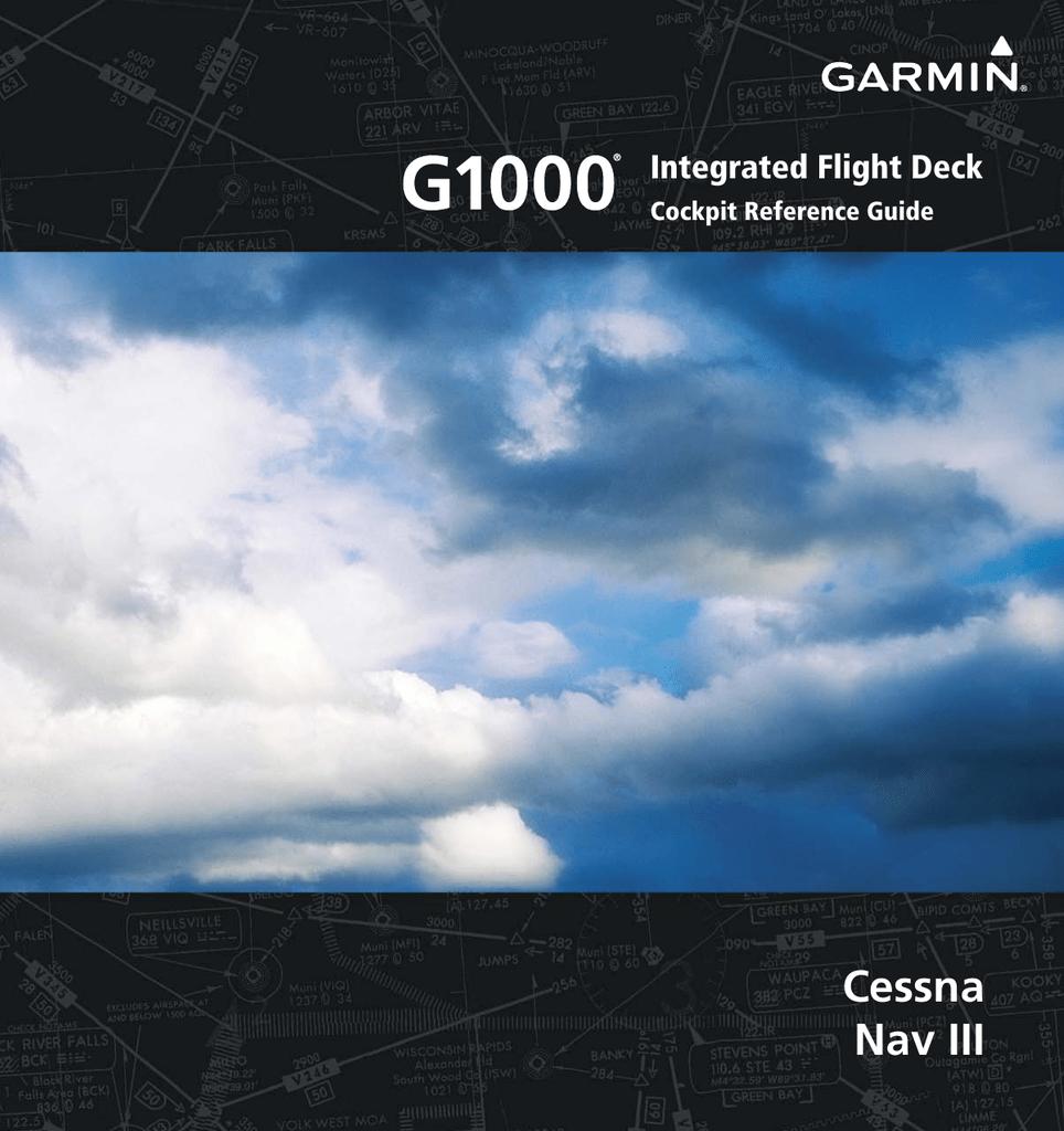 Garmin Software Version 0563 26 Cockpit Reference Guide