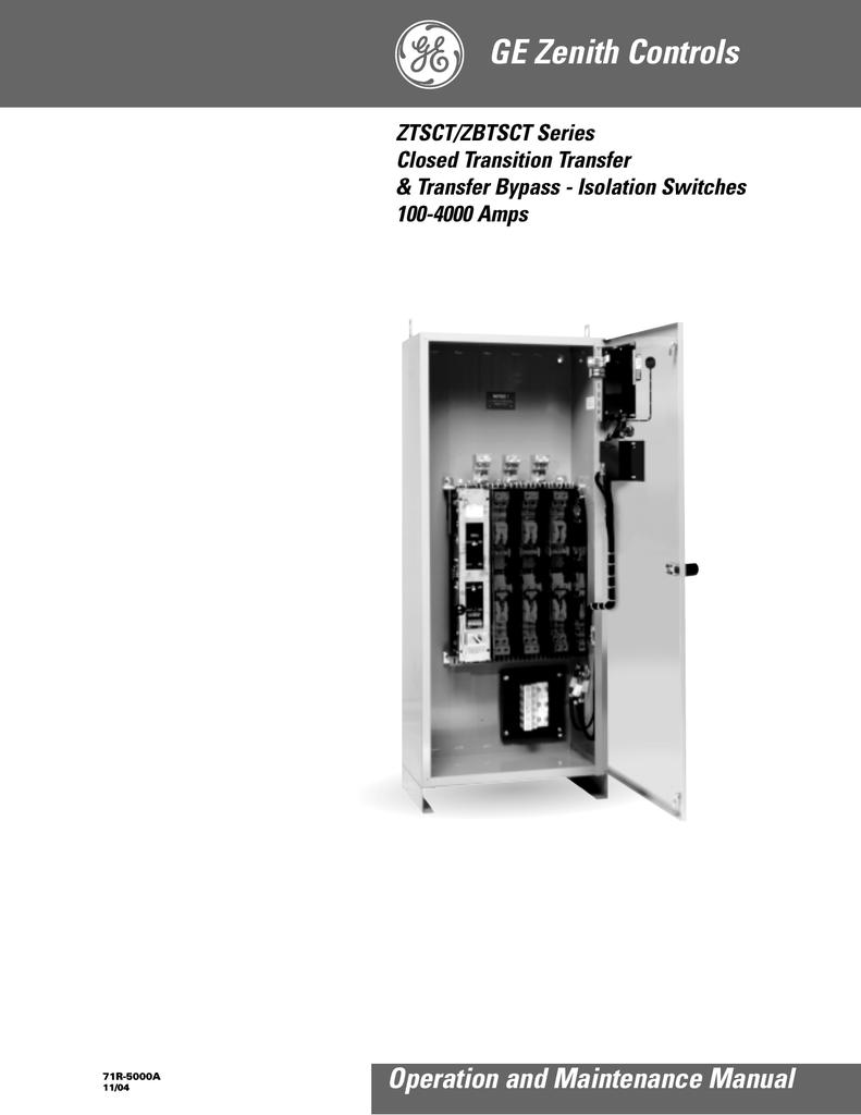 [SCHEMATICS_48EU]  GE General Electric Switch ZTSCT User's Manual | Manualzz | Zenith Ats Wiring Diagram |  | manualzz
