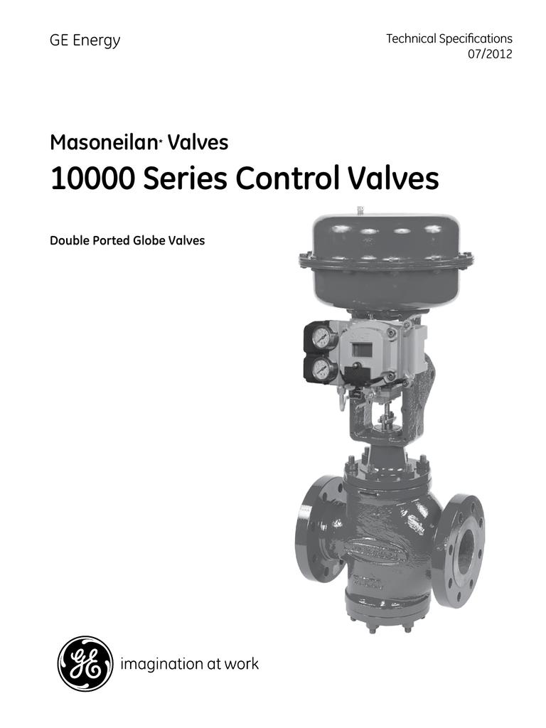 GE Globe Control Valves masoneilan 10000 series Technical