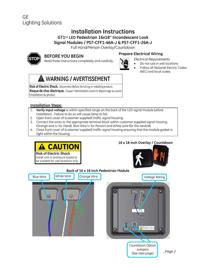 GE Pedestrian Signals Installation Guide | manualzz com