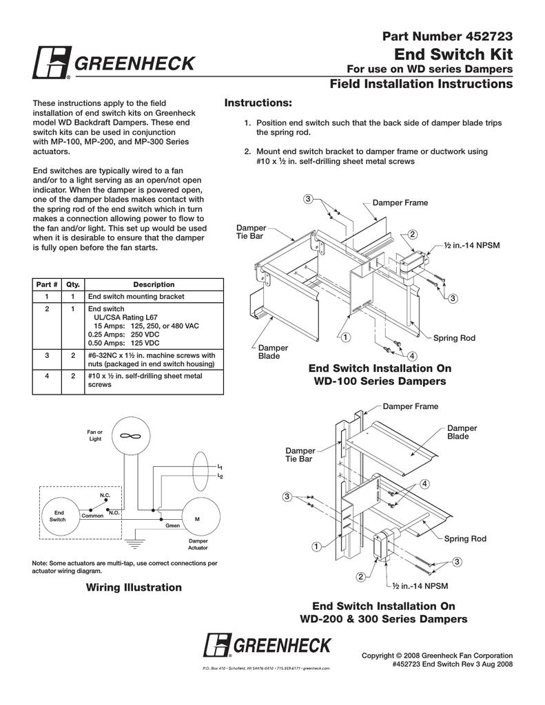 Greenheck Fan WD Series User's Manual | manualzz com