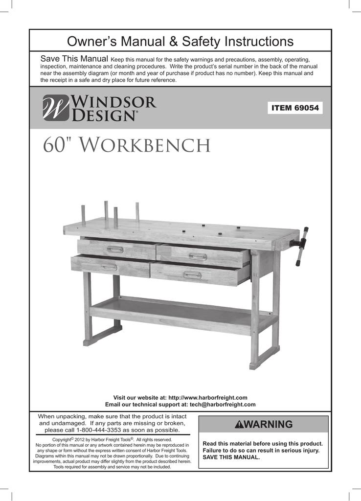 Marvelous Harbor Freight Tools 60 In 4 Drawer Hardwood Workbench Short Links Chair Design For Home Short Linksinfo