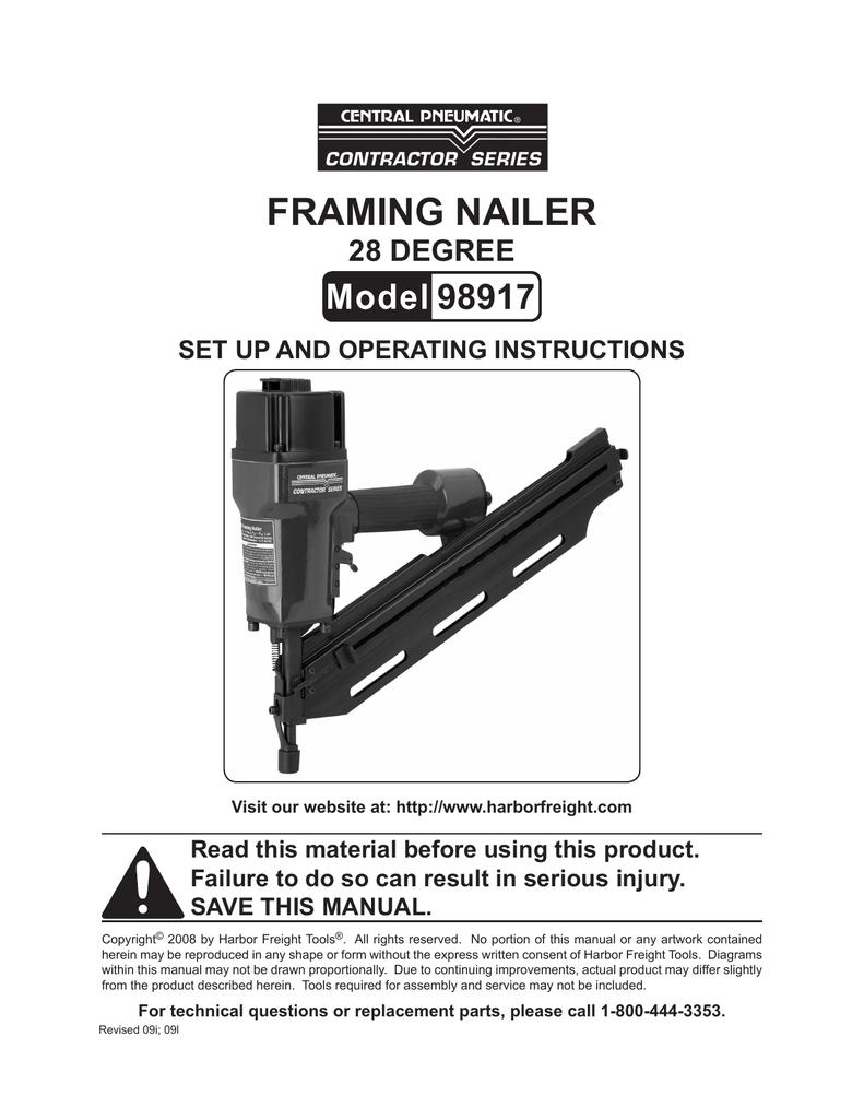 Harbor Freight Tools 98917 User S Manual Manualzz