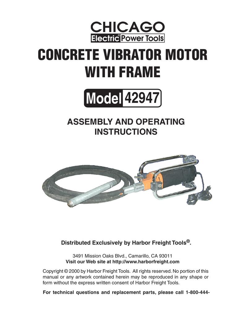 vibrator Harbor freight concrete