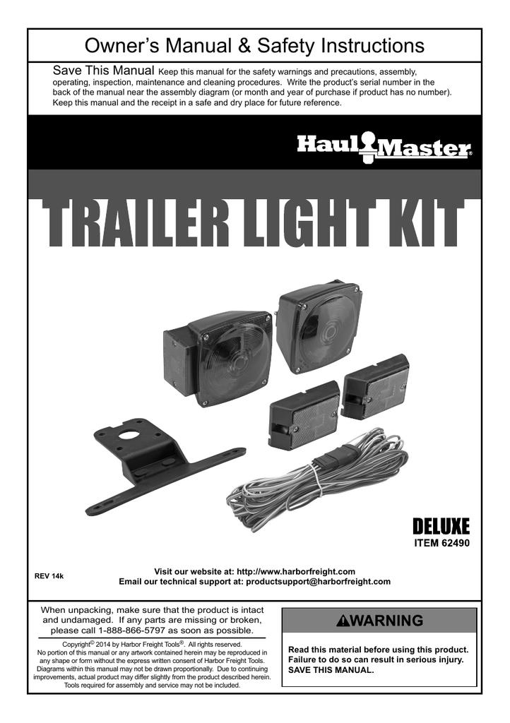 Harbor Freight Trailer Light Kit Wiring Diagram