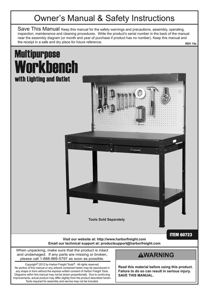 Cool Harbor Freight Tools Multipurpose Workbench With Light Short Links Chair Design For Home Short Linksinfo