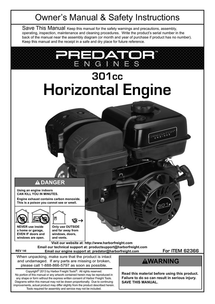 Harbor Freight Tools 301cc Product manual | manualzz com