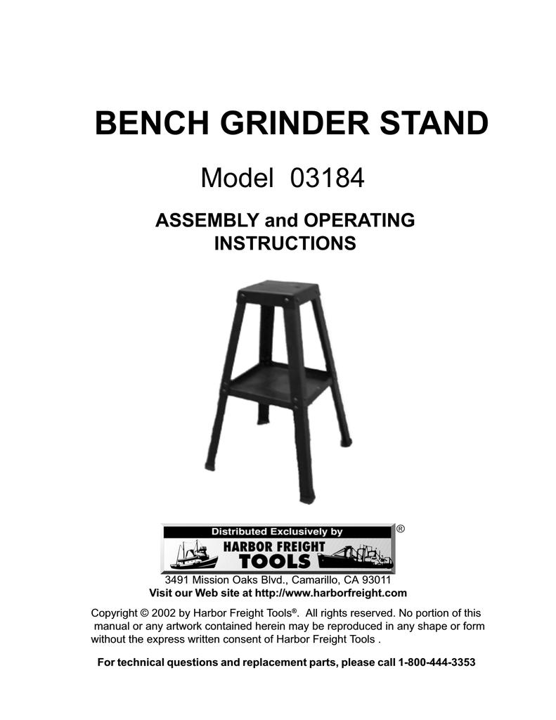 Phenomenal Harbor Freight Tools Universal Bench Grinder Stand Product Creativecarmelina Interior Chair Design Creativecarmelinacom