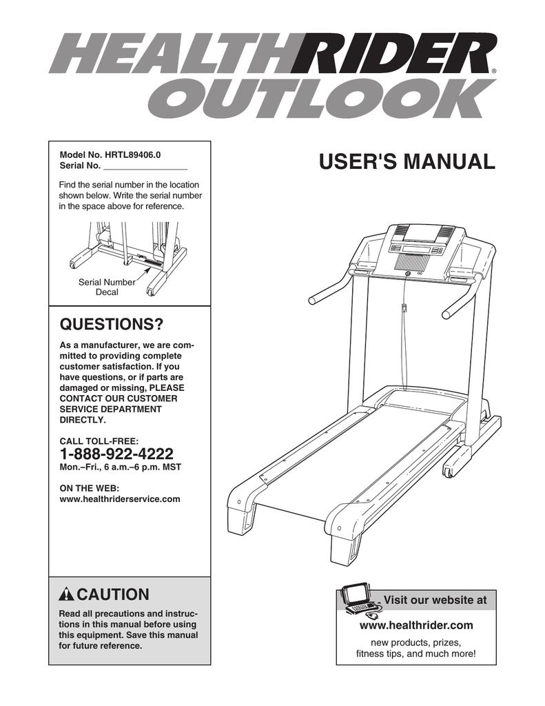 Healthrider outlook treadmill motor drive belt hrtl894060 | ebay.