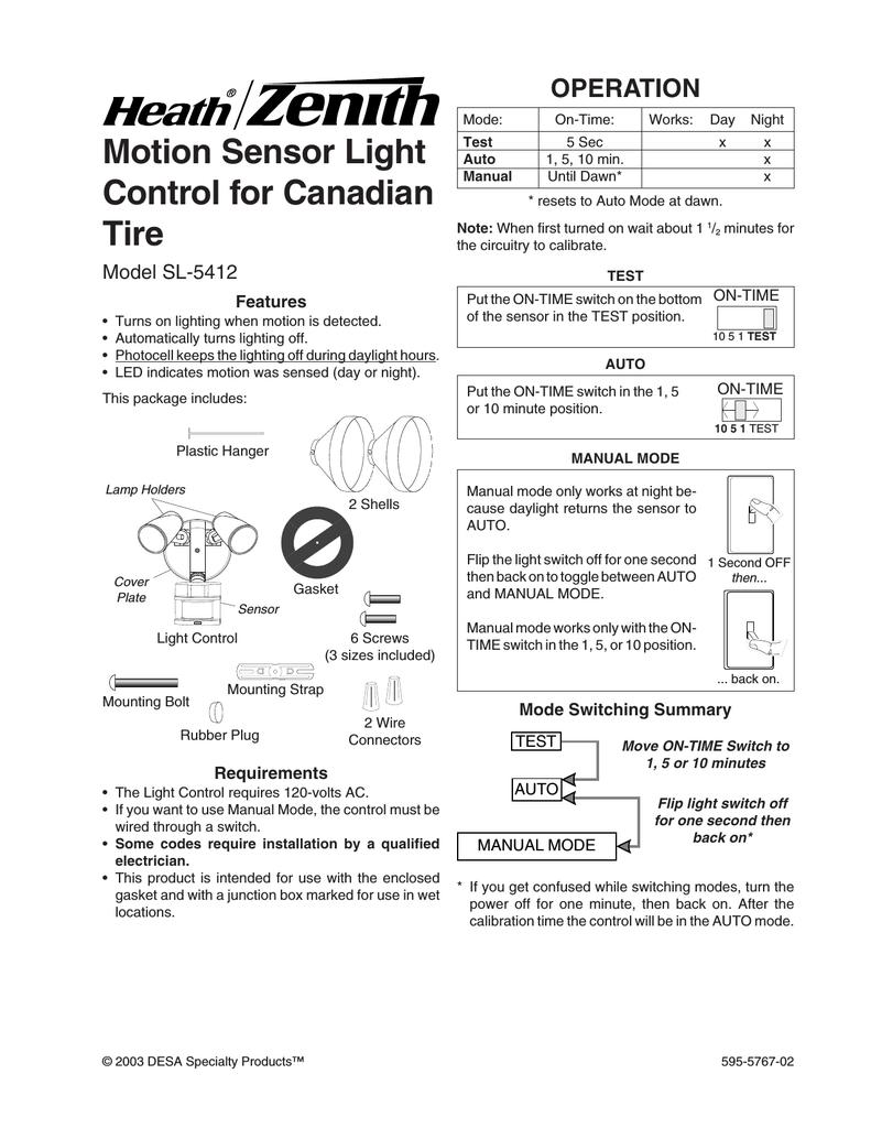 Heath Zenith Sl 5412 User Manual Manualzz