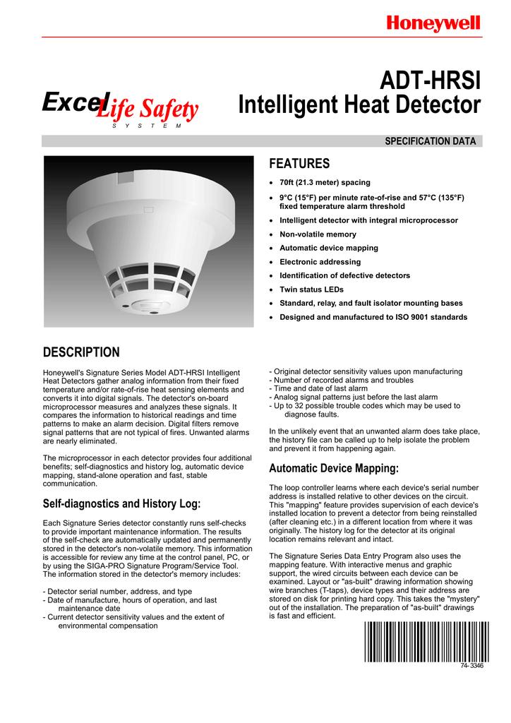 Honeywell EXCEL ADT-HRSI User's Manual | manualzz com