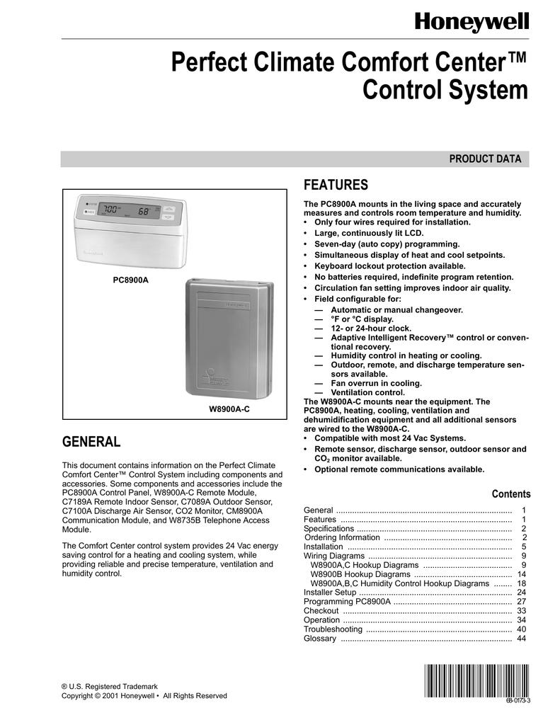 Honeywell 5000 Wiring Diagram