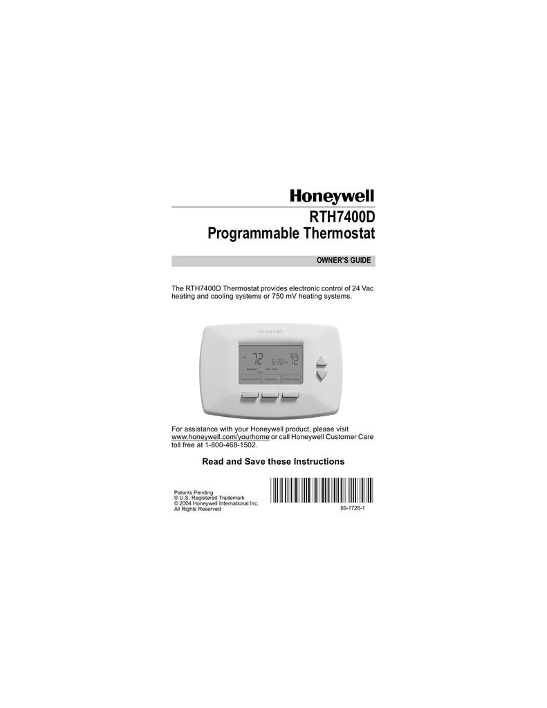 honeywell thermostat rth7400d user s manual manualzz com rh manualzz com