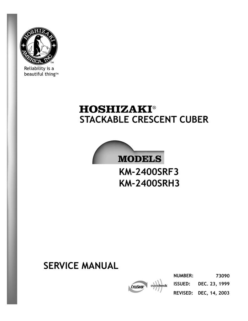 hoshizaki km-2400srh3 user's manual