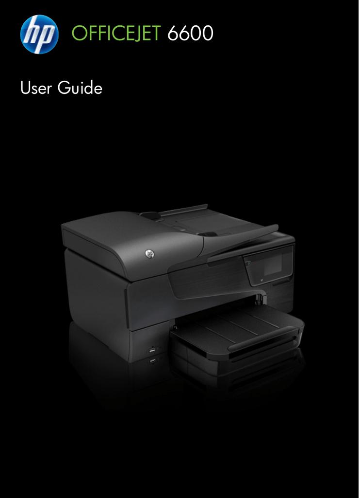 HP All in One Printer Officejet 6600 User's Manual | manualzz com
