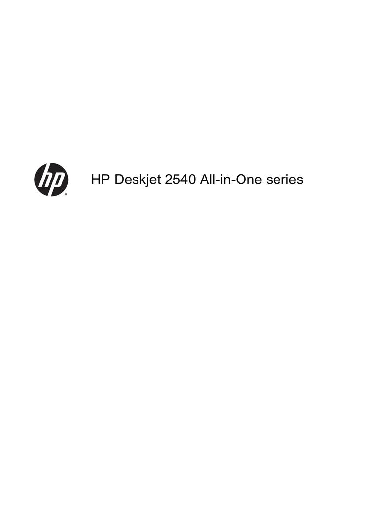 HP Deskjet 2541 All-in-One Printer User's Manual | manualzz com