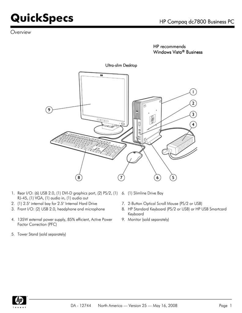 HP DC7800 User's Manual | manualzz com