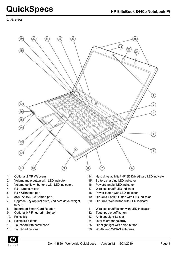 HP 8440P User's Manual | manualzz com