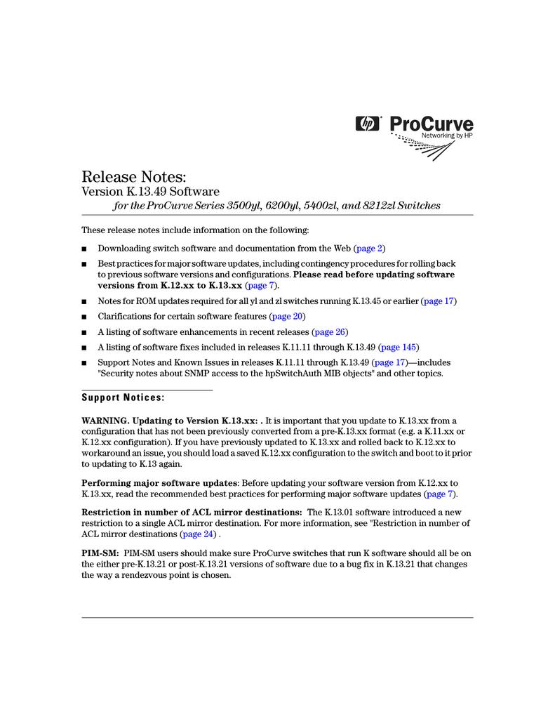 HP PROCURVE 8212ZL User's Manual | manualzz com