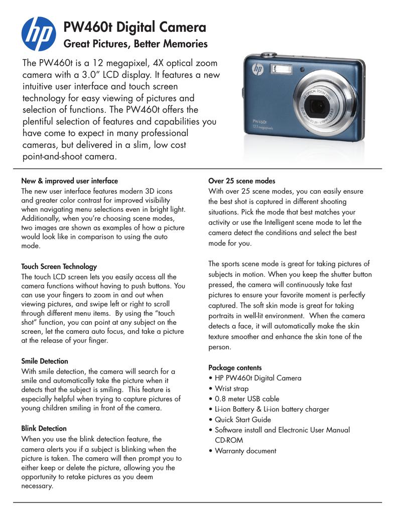 HP PW460t Digital Camera Datasheet   manualzz com