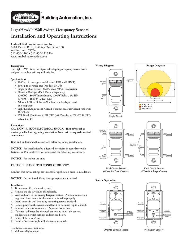 hubbell lighthawk lhir user's manual | manualzz  manualzz