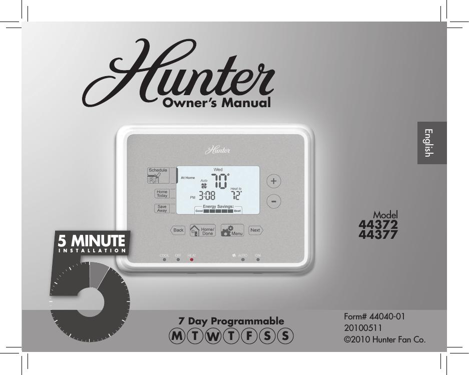 hunter 44372 user s manual manualzz com hunter 44372 user s manual