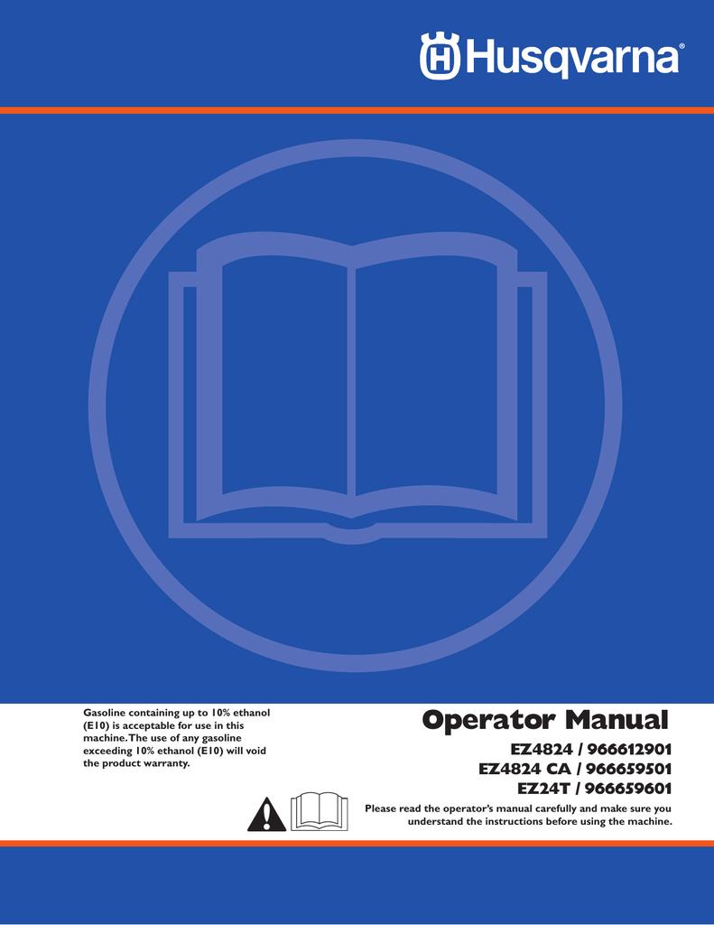 Husqvarna EZ24T/ 966659601 User's Manual | manualzz com