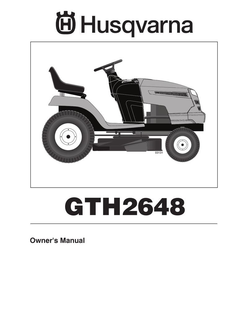 husqvarna gth2648 manual