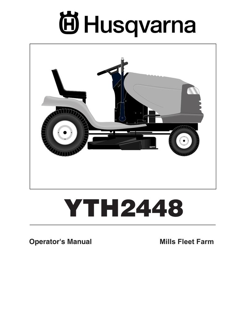 WRG-4500] Wiring Diagram For Husqvarna Yth 2448 Lawn Mower