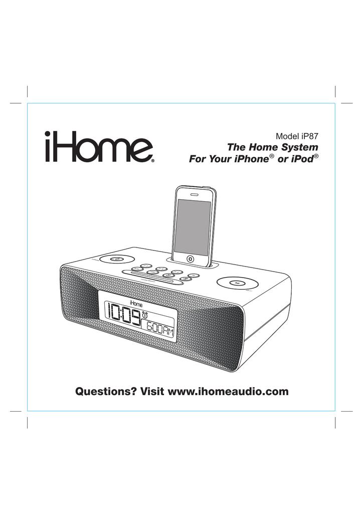 iHome IP87 User's Manual   manualzz com