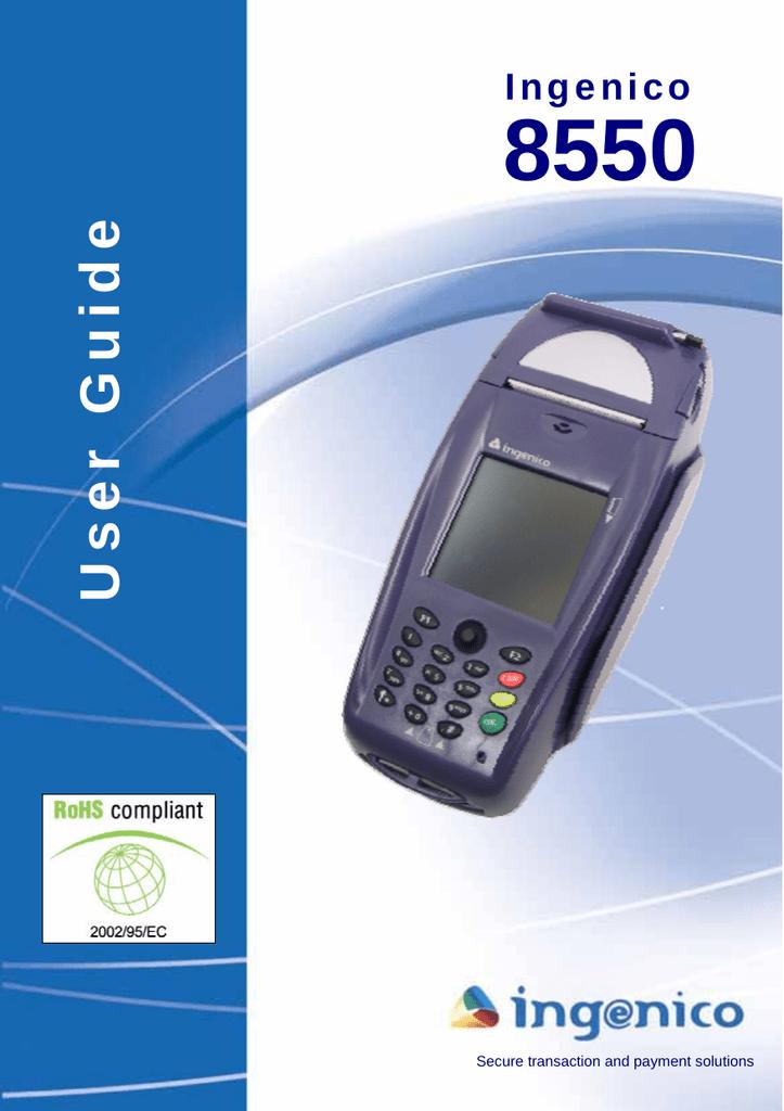 Ingenico 8550 User's Manual   manualzz com