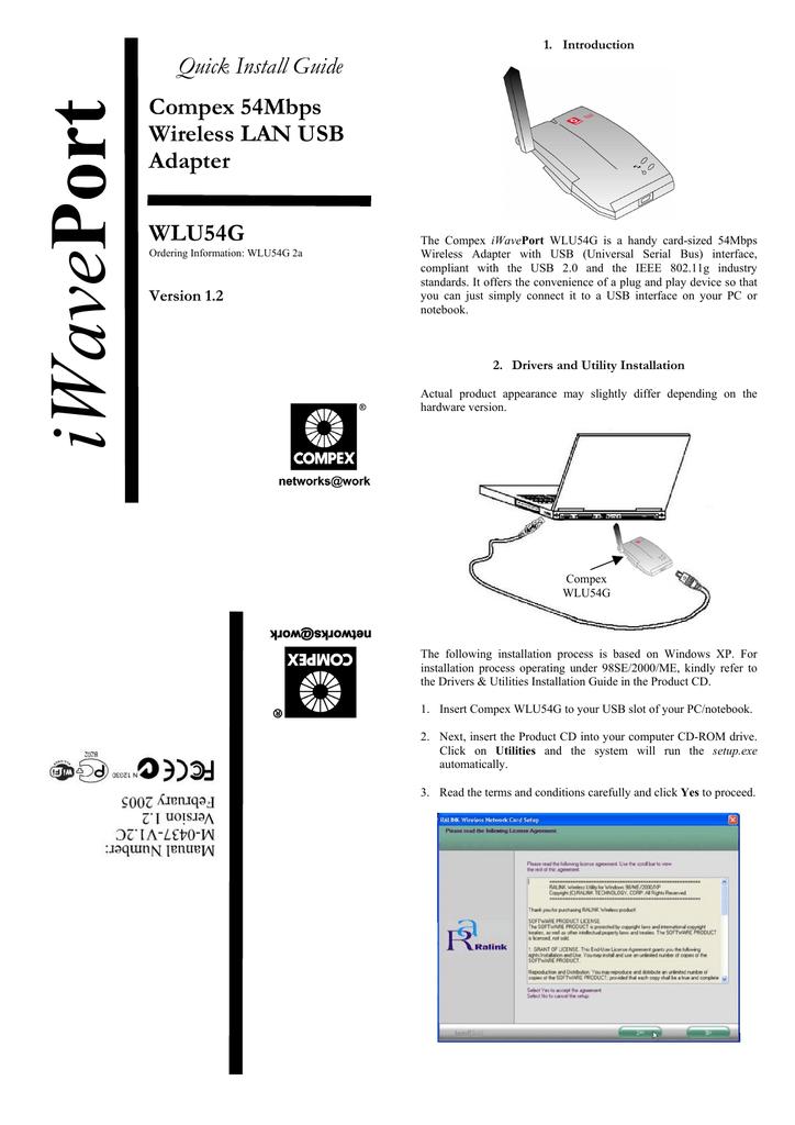 COMPEX IWAVEPORT WLU54G WINDOWS 8 DRIVER