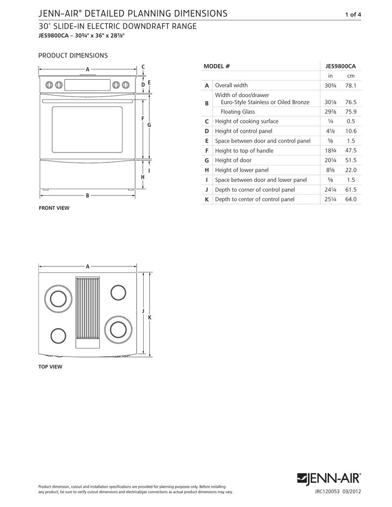 Jenn Air Range Jes9800ca User S Manual Manualzz