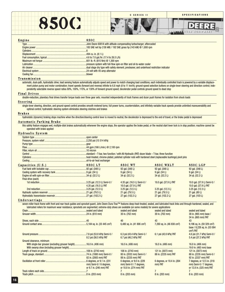 John Deere 850C LT User's Manual | manualzz com