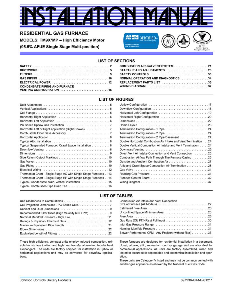Johnson Controls TM9X*MP User's Manual | manualzz com