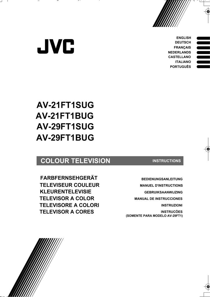 JVC AV-21FT1BUG User's Manual | manualzz com