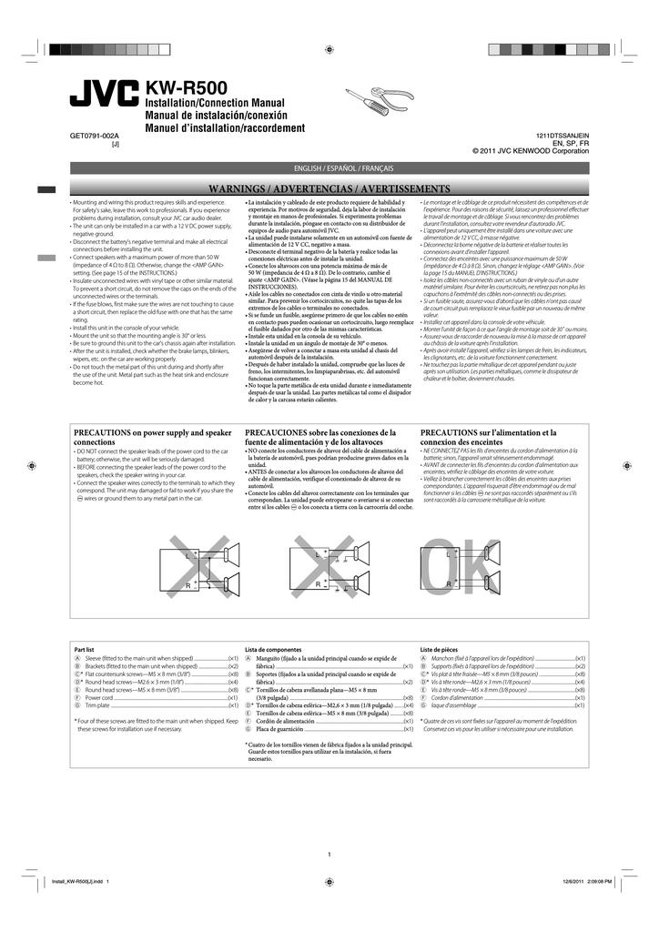JVC KW-R500 User's Manual | manualzz.com on