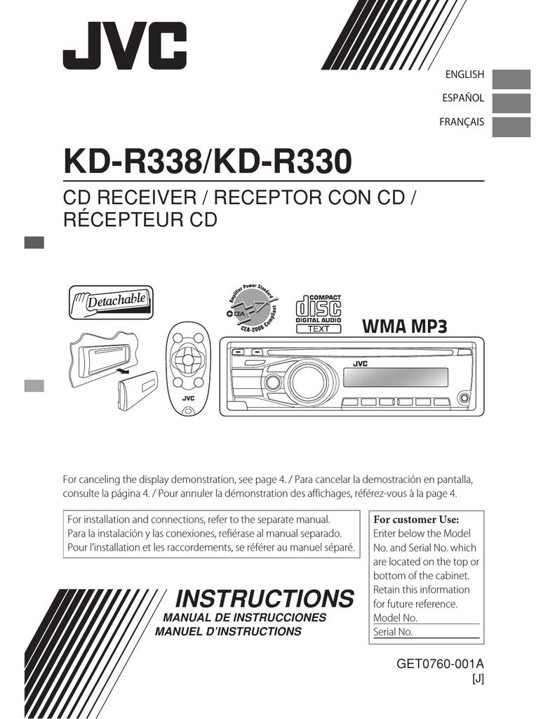JVC KD-R330 User's Manual   manualzz.com on kicker wiring, car speaker wiring, vintage stereo wiring, rca wiring, klipsch wiring, bosch wiring, nasa wiring, car audio wiring, kenwood wiring, bose wiring, pioneer wiring, honeywell wiring,