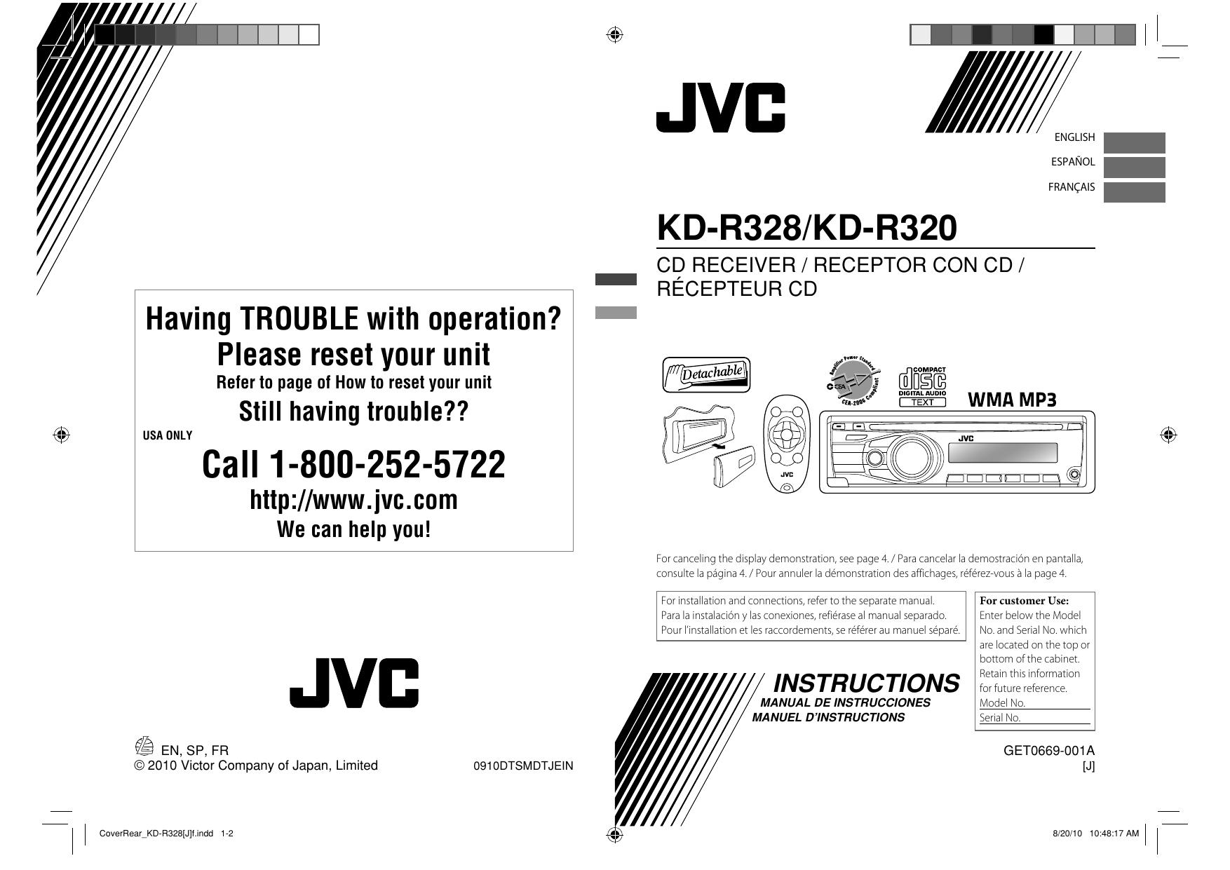 JVC GET0669-001A User\'s Manual | manualzz.com